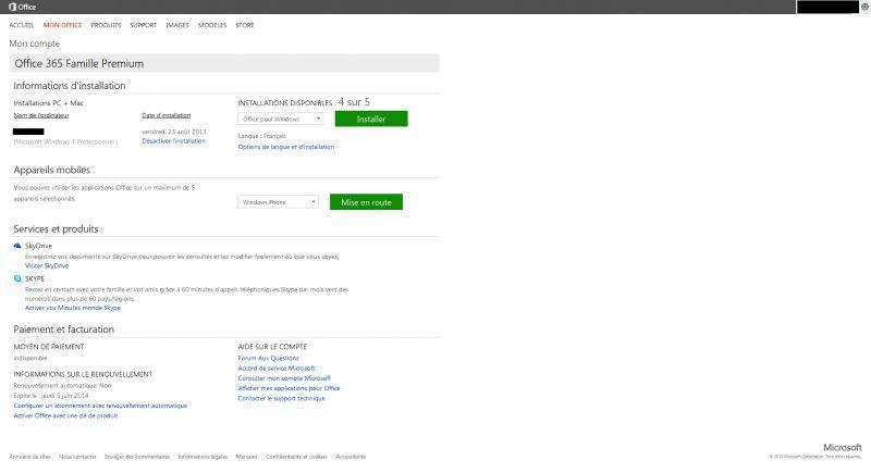 Comment renouveler une licence office 365 - Office famille premium cle gratuit ...